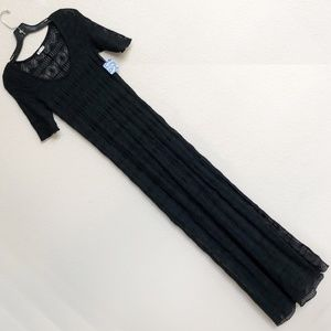 Free People Too Cool Black Sheer Lace Dress